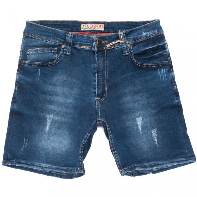 6576 Destry шорты джинсовые мужские с царапками синие стрейчевые (29-36, 8 ед.) Destry: артикул 1109459