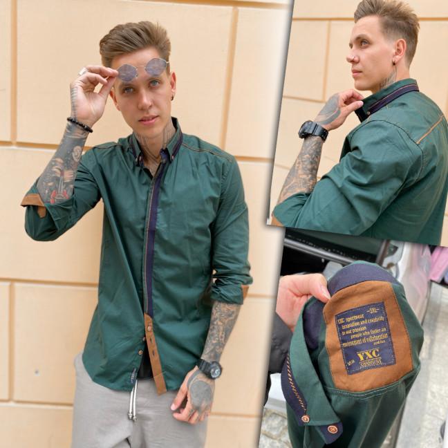 2010-1 YXC рубашка мужская зеленая (3XL-6XL, 4 ед.) YXC: артикул 1109375