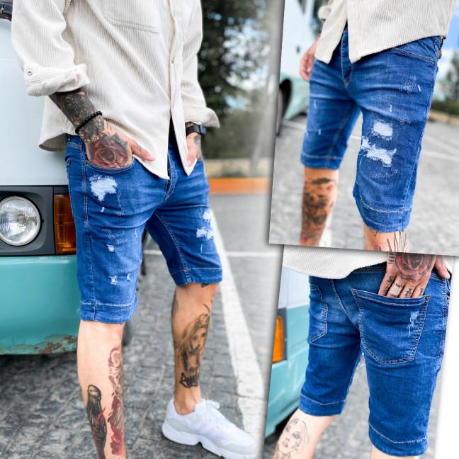 0254 Mario Vintage шорты джинсовые мужские рваные стрейчевые (29-36, 8 ед.) Mario Vintage: артикул 1109267