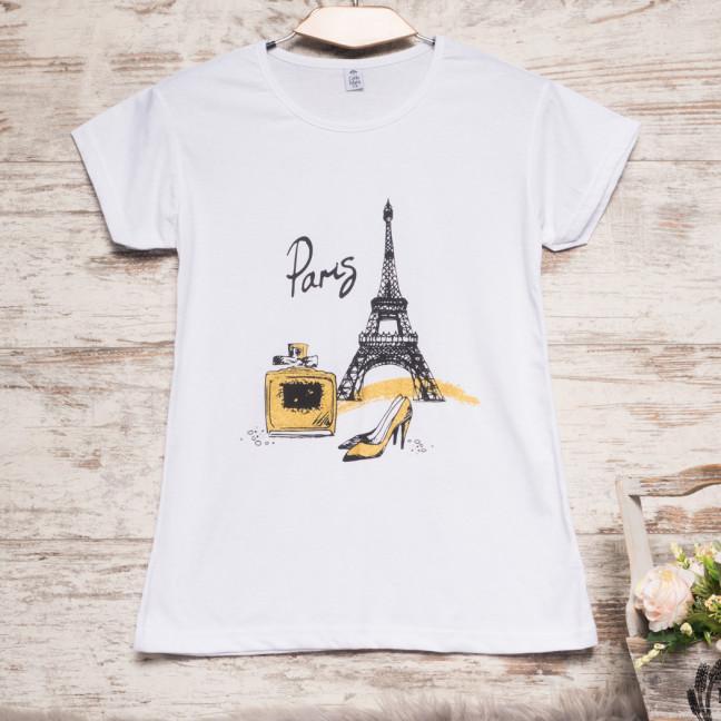 Белая женская футболка с принтом Carla Mara 3212-3 Carla Mara: артикул 1110819