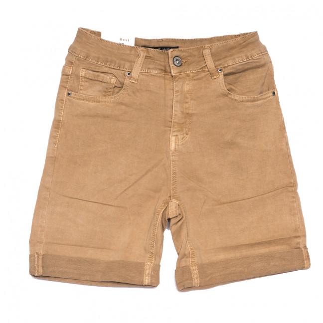 9031-7 коричневые Saint Wish шорты джинсовые женские полубатальные стрейчевые (28-33, 6 ед.) Saint Wish: артикул 1108215