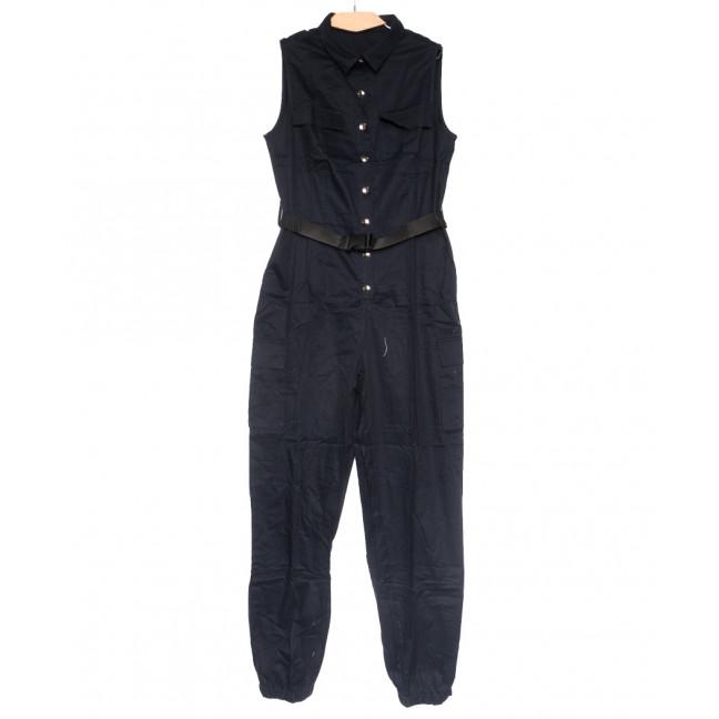 8381 темно-синий Saint Wish комбинезон текстильный летний стрейчевый (S-2XL, 5 ед.) Saint Wish: артикул 1108256