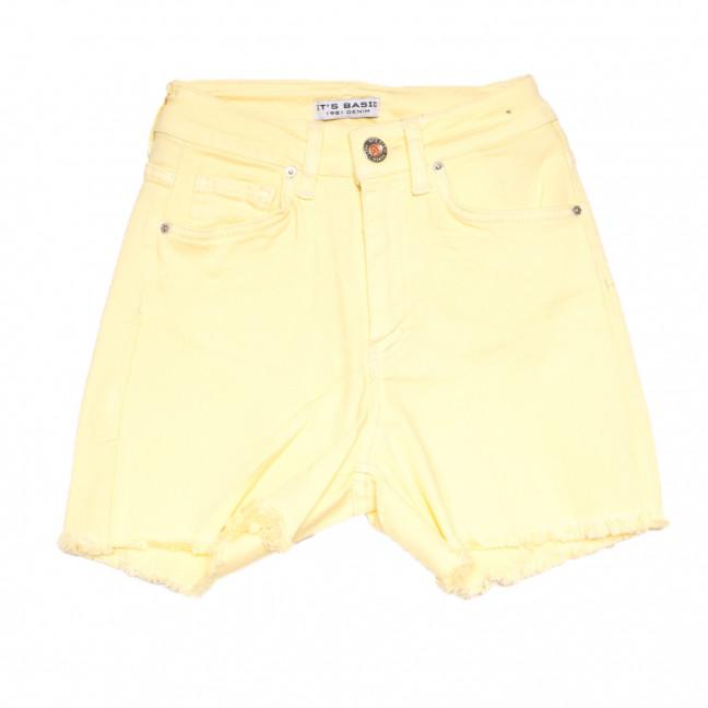 1491 Sari Its Basic шорты джинсовые женские желтые стрейчевые (32-40,евро, 6 ед.) Its Basic: артикул 1108422