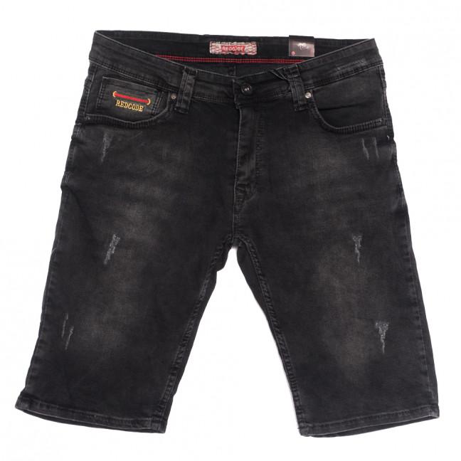 6567 Redcode шорты джинсовые мужские с царапками темно-серые стрейчевые (29-36, 8 ед.) Redcode: артикул 1108734