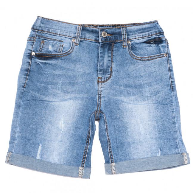 3760 New jeans шорты джинсовые женские с царапками синие стрейчевые (25-30, 6 ед.)  New Jeans: артикул 1108987