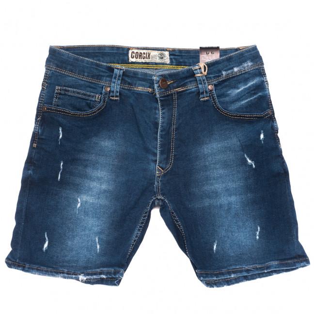 6578 Corcix шорты джинсовые мужские с царапками синие стрейчевые (29-36, 8 ед.) Corcix: артикул 1109460