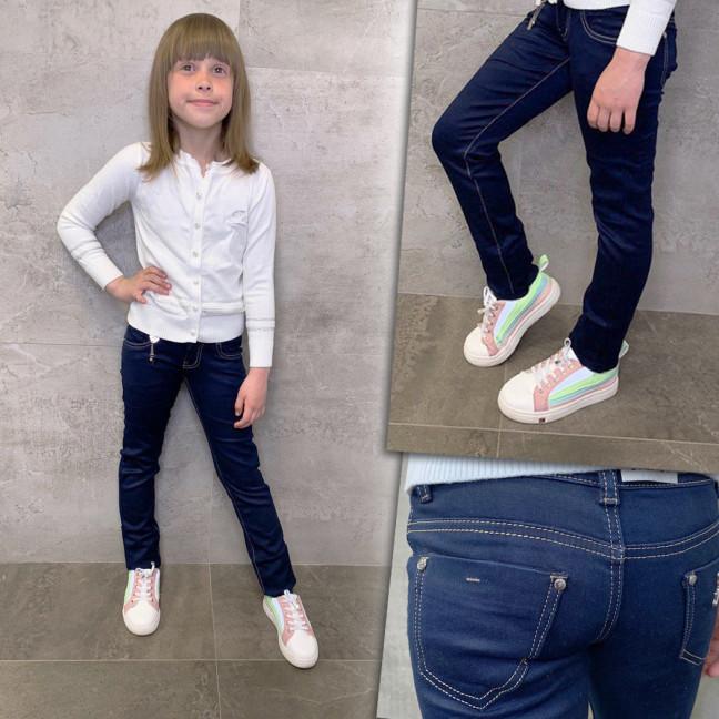 2079 Lafeidina джинсы на девочку темно-синие осенние стрейчевые (21-27, 7 ед.) Lafeidina: артикул 1109937