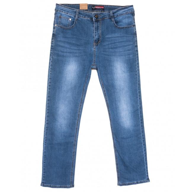 0107 Bullmad джинсы мужские полубатальные синие весенние стрейчевые (32-42, 8 ед.) Bullmad: артикул 1110054