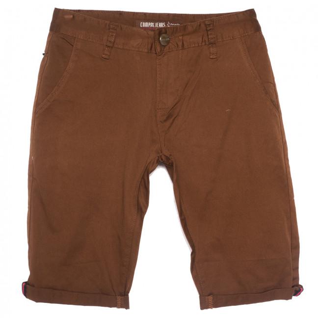 87013 Compax шорты джинсовые мужские молодежные коричневые стрейчевые (27-34, 8 ед.) Compax: артикул 1109919