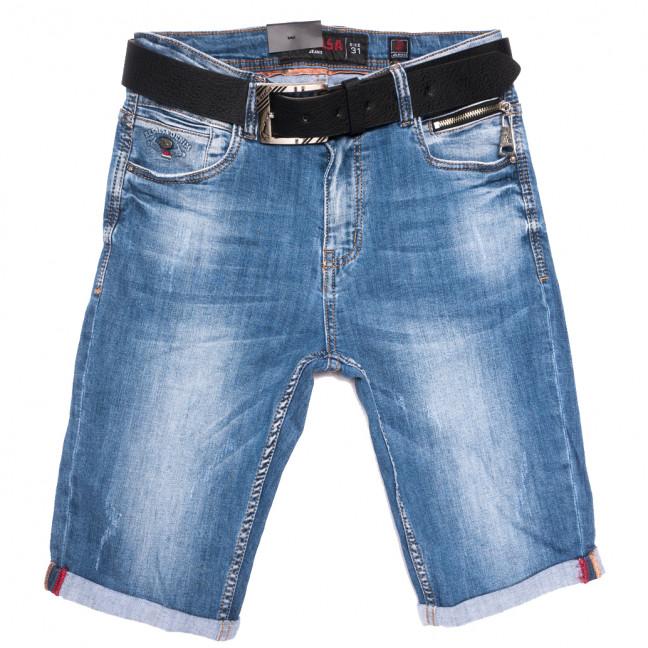 6177 Resalsa шорты джинсовые мужские с царапками синие стрейчевые (30-38, 7 ед.) Resalsa: артикул 1109681