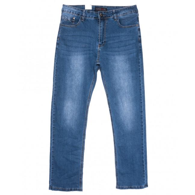 0112 Fashion Jeans джинсы мужские полубатальные синие весенние стрейчевые (32-42, 8 ед.) Fashion jeans: артикул 1110053