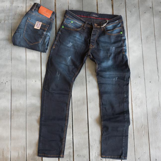 4810 Blue Nil джинсы мужские с царапками темно-синие весенние стрейчевые (29-36, 8 ед.) Blue Nil: артикул 1109430