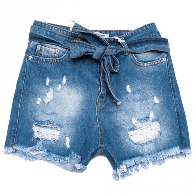0334 Geronis шорты джинсовые женские с рванкой синие коттоновые (25-30, 8 ед.) Geronis: артикул 1110273