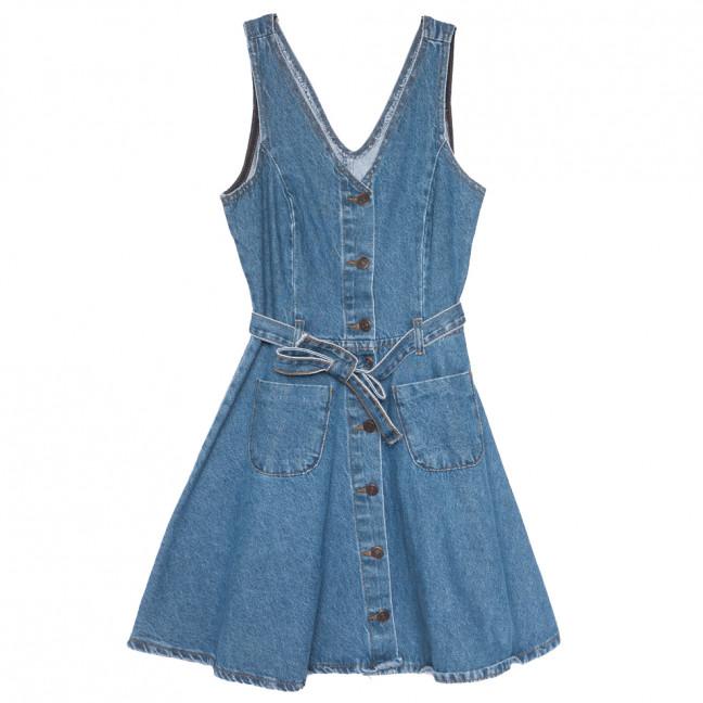 105437 Top Shop сарафан джинсовый на пуговицах с рванкой синий весенний коттоновый (S-XL, 6 ед.) TOP SHOP: артикул 1109876