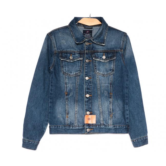 0223-1 A Relucky куртка джинсовая женская с царапками синяя осенняя коттоновая (S-XXL, 6 ед.) Relucky: артикул 1110372