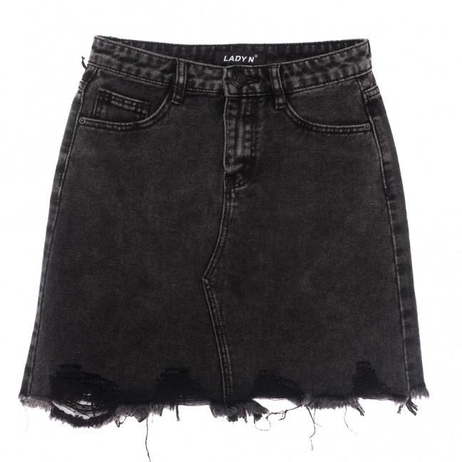 1560 Lady N юбка джинсовая серая весенняя котоновая (25-30, 6 ед.) Lady N: артикул 1109748