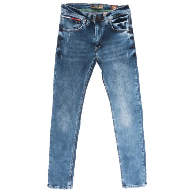 6856 Blue Nil джинсы мужские с царапками синие весенние стрейчевые (29-36, 8 ед.) Blue Nil: артикул 1109935