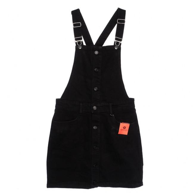 0034-2 Y Relucky сарафан джинсовый женский на пуговицах серый осенний стрейчевый (25-30, 6 ед.) Relucky: артикул 1110606