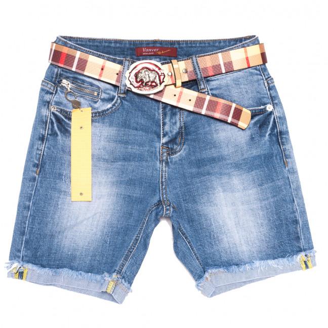 8376 Vanver шорты джинсовые женские синие стрейчевые (25-30, 6 ед.) Vanver: артикул 1109985