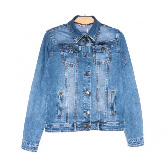 0351 Zijinyan куртка джинсовая женская батальная синяя весенняя стрейчевая (L-5XL, 6 ед.) Zijinyan: артикул 1110006