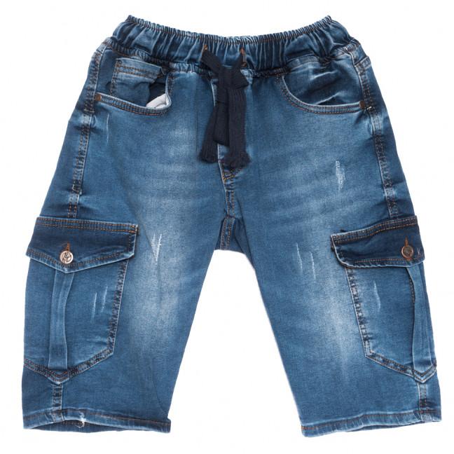 6521 шорты джинсовые мужские c царапками синие стрейчевые (29-36, 8 ед.) Шорты: артикул 1110143