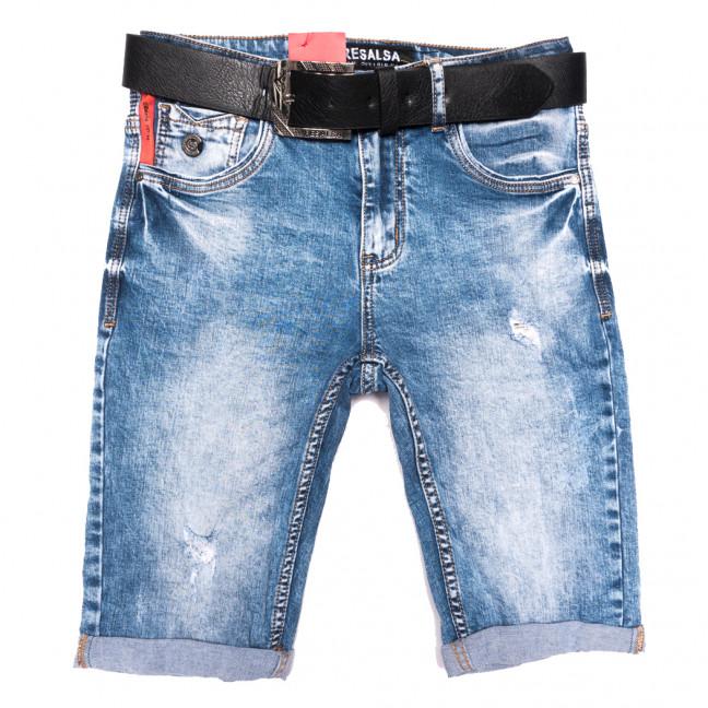 6141 Resalsa шорты джинсовые мужские с царапками синие стрейчевые (29-36, 7 ед.) Resalsa: артикул 1109687