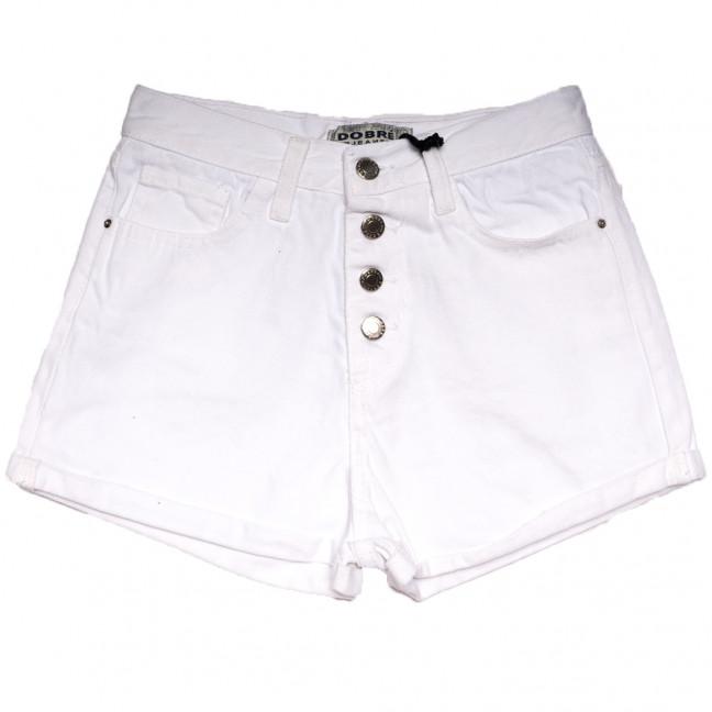 1548 Gecce шорты джинсовые женские на пуговицах белые коттоновые (34-42,евро, 5 ед.) Dobre: артикул 1110392