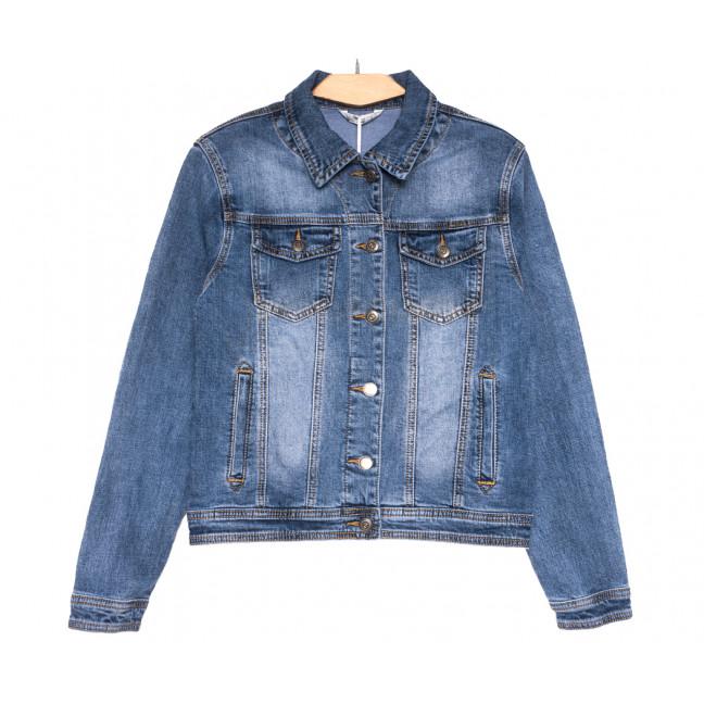 0355 Zijinyan куртка джинсовая женская батальная синяя весенняя стрейчевая (L-5XL, 6 ед.) Zijinyan: артикул 1110008