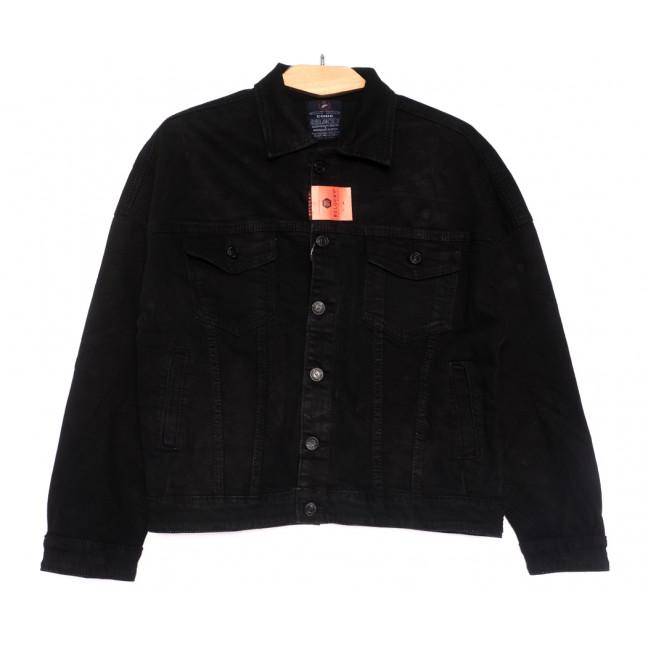0210-2 A Relucky куртка джинсовая женская черная осенняя стрейчевая (S-L, 6 ед.) Relucky: артикул 1110376