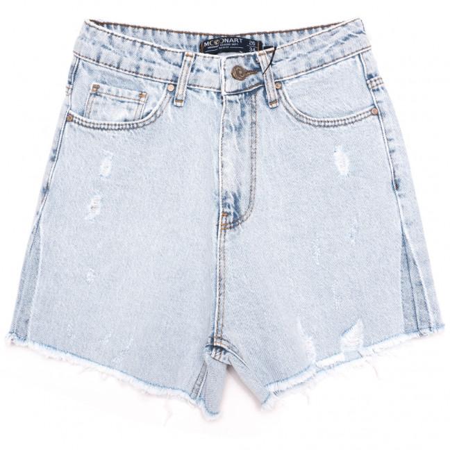 0600 Moonart шорты джинсовые женские c царапками синие коттоновые (26-30, 5 ед.) MoonArt: артикул 1110492