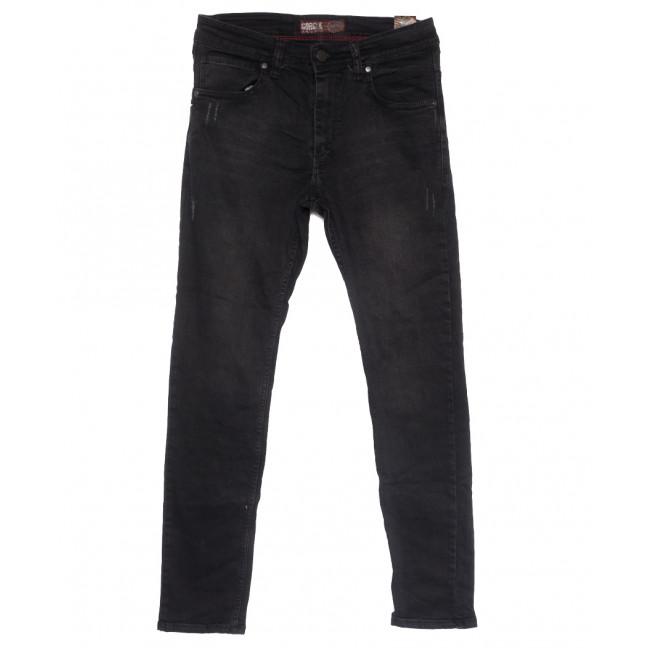 6812 Corcix джинсы мужские полубатальные c царапками темно-серые весенние стрейчевые (32-40, 8 ед.) Corcix: артикул 1110135