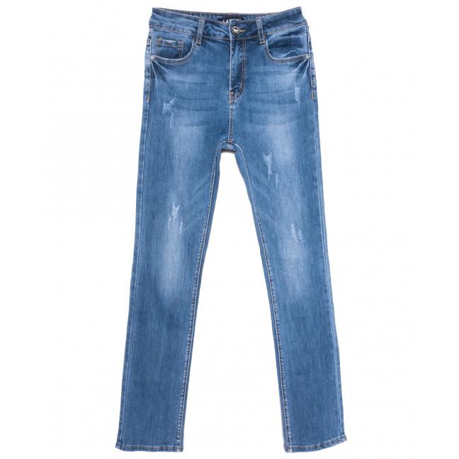 1573 Lady N джинсы женские полубатальные с царапками синие весенние стрейчевые (28-33, 6 ед.) Lady N: артикул 1109737
