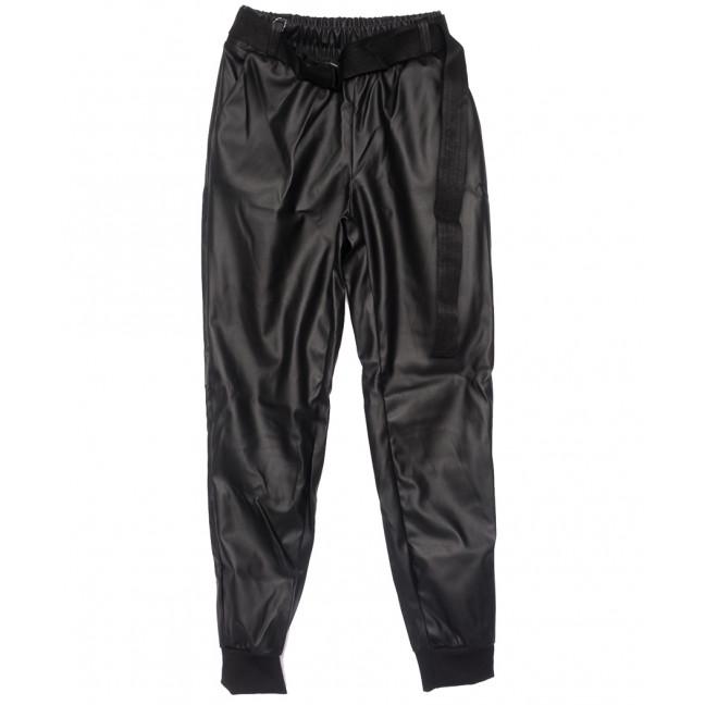 0021-42 Exclusive брюки женские из кожзама черные весенние (42-48,норма, 4 ед.) Exclusive: артикул 1109760