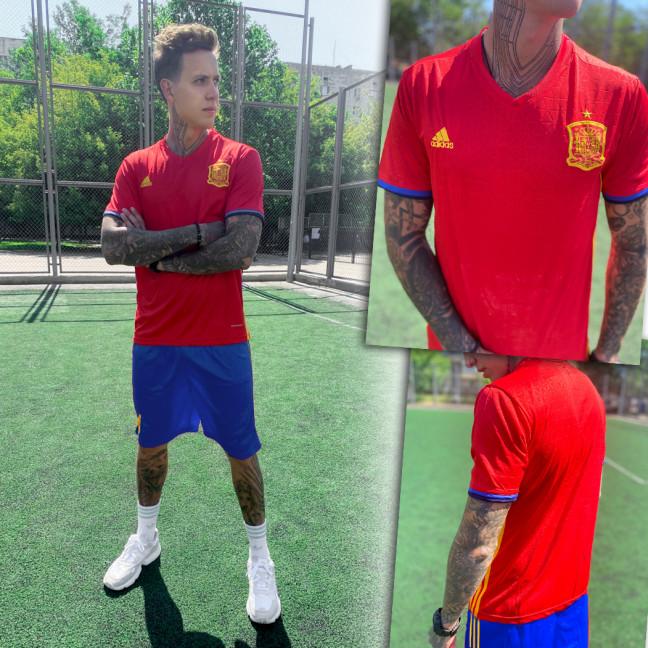 4022-03 костюм мужской футбольный красный (S,M,M,XL, 4 ед.) Костюм: артикул 1110112