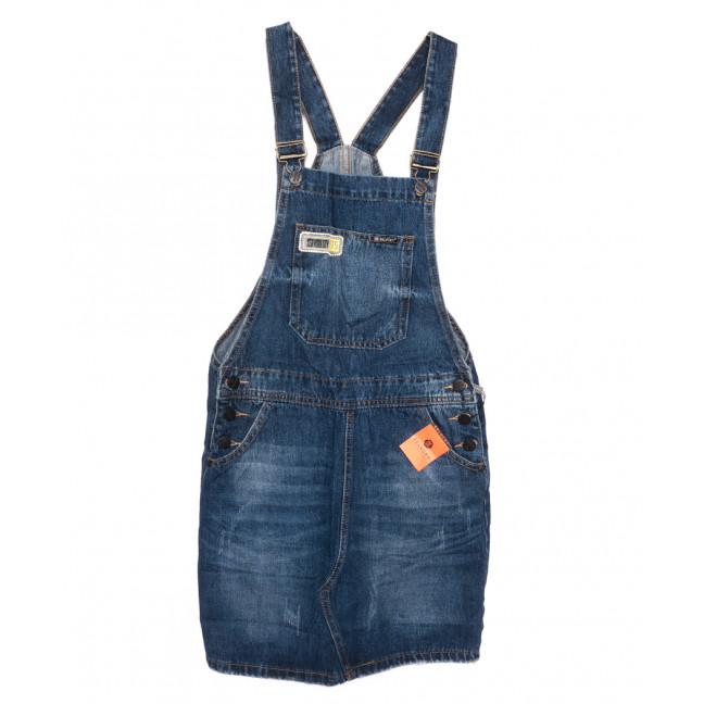 0332-1 Y Relucky сарафан джинсовый синий осенний коттоновый (25-30, 6 ед.) Relucky: артикул 1110357