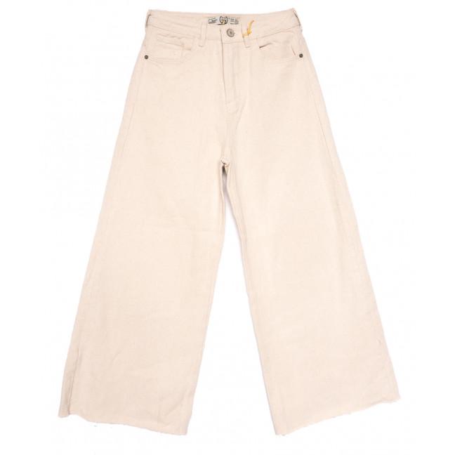 2090 777Plus джинсы-трубы бежевые весенние коттоновые (25-32, 8 ед.) 777Plus: артикул 1110449