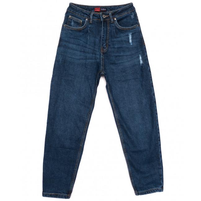 0062-3 М Relucky джинсы-баллон с царапками синие осенние стрейчевые (25-30, 6 ед.) Relucky: артикул 1110565
