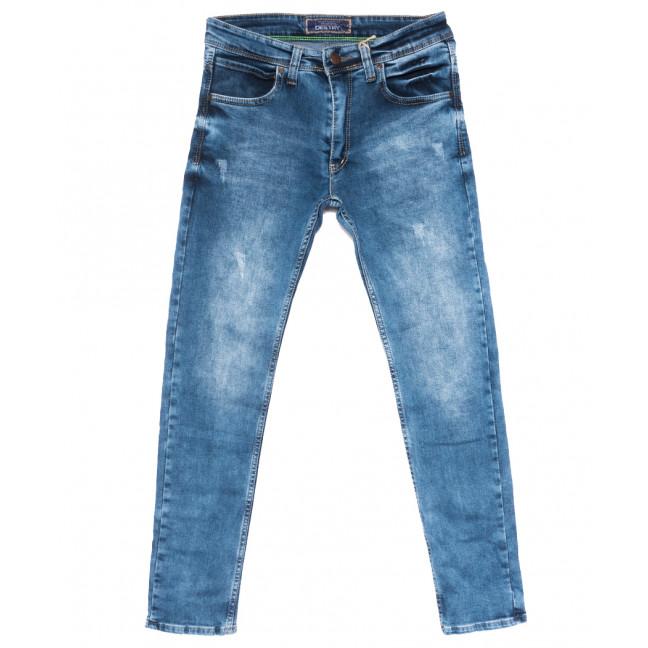 6890 Destry джинсы мужские полубатальные с царапками синие весенние стрейчевые (32-40, 8 ед.) Destry: артикул 1109908