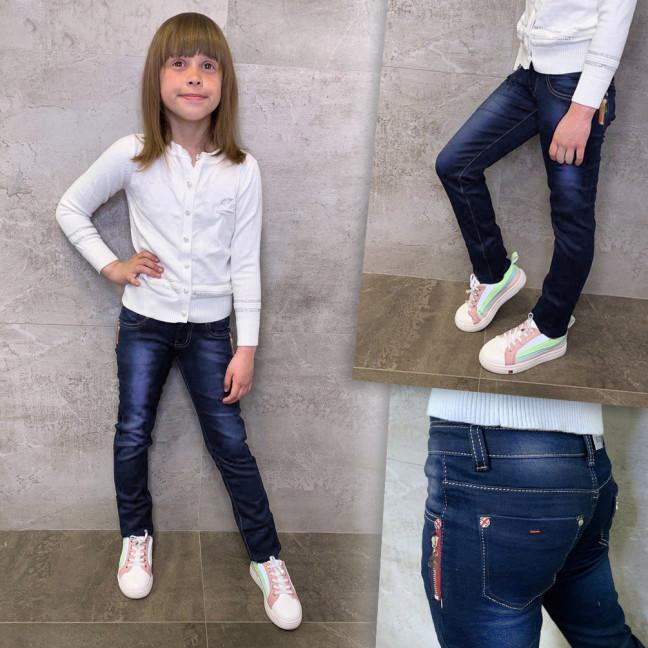 2089 L&D джинсы на девочку синие стрейчевые (21-27, 7 ед.) L&D: артикул 1109393