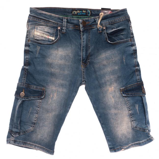 6525 Blue Nil шорты джинсовые мужские синие стрейчевые (29-36, 8 ед.) Blue Nil: артикул 1110141
