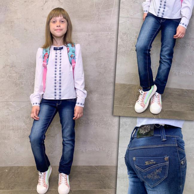 2023 Lafeidina джинсы на девочку с декоративной отделкой осенние стрейчевые (21-27, 7 ед.) Lafeidina: артикул 1109276
