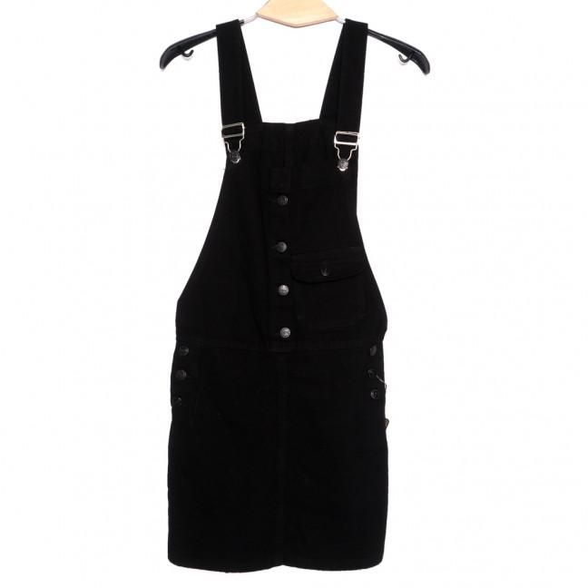 3315-5 Y Relucky сарафан джинсовый женский черный осенний коттоновый (25-30, 6 ед.) Relucky: артикул 1110609
