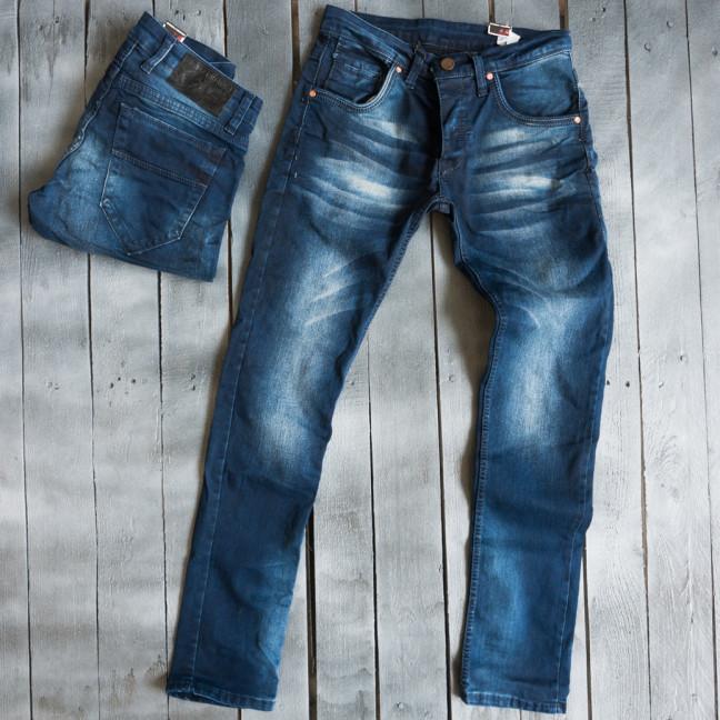 2830 JF Mario джинсы мужские синие весенние стрейчевые (29-36, 8 ед.) JF Mario: артикул 1109412