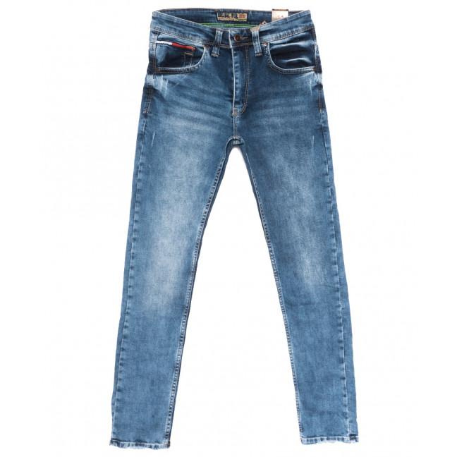6856 Blue Nil джинсы мужские с царапками синие весенние стрейчевые (29-36, 8 ед.) Blue Nil: артикул 1109912