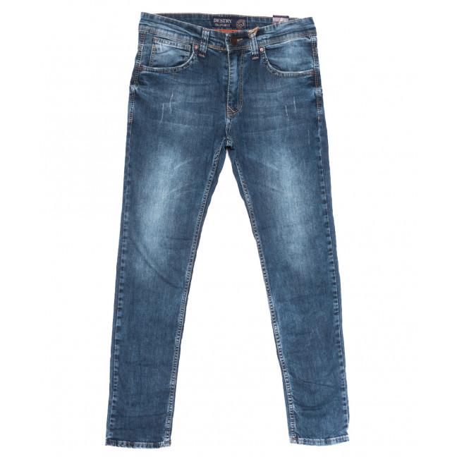 6712 Destry джинсы мужские с царапками синие весенние стрейчевые (29-36, 8 ед.) Destry: артикул 1109928