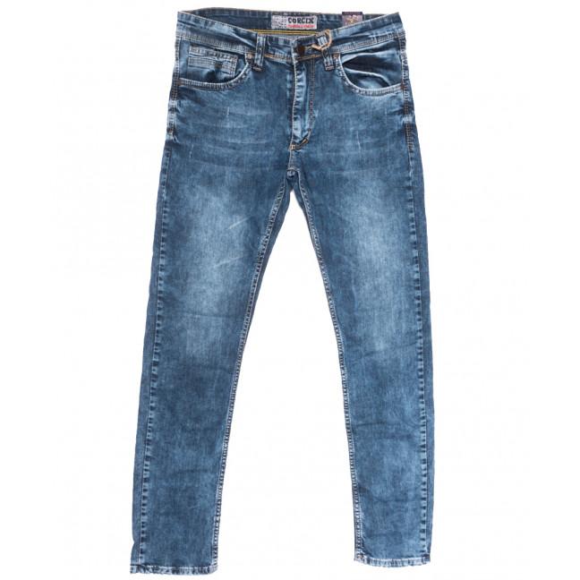 6713 Corcix джинсы мужские с царапками синие весенние стрейчевые (29-36, 8 ед.) Corcix: артикул 1109929
