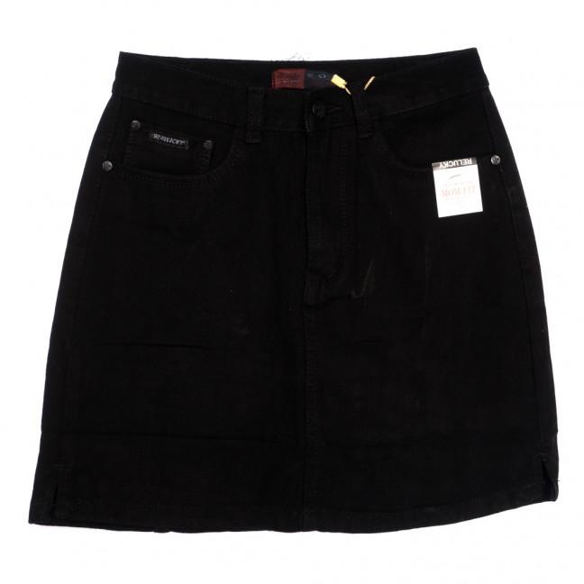 9913-5 V Relucky юбка джинсовая на пуговицах черная осенняя коттоновая (25-30, 6 ед.) Relucky: артикул 1110595