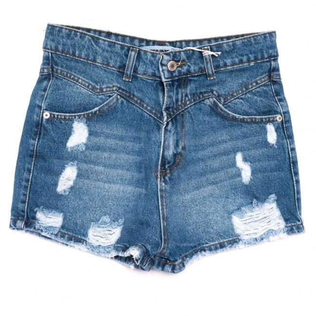 3355 Xray шорты джинсовые женские с рванкой синие коттоновые (34-42, 5 ед.) XRAY: артикул 1110387
