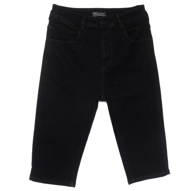 0321 шорты джинсовые женские батальные черные стрейчевые (30-36, 6 ед.) Шорты: артикул 1109622