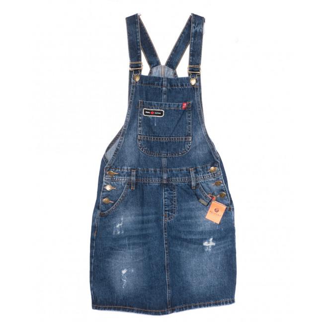 0333-1 Y Relucky сарафан джинсовый синий осенний коттоновый (25-30, 6 ед.) Relucky: артикул 1110358